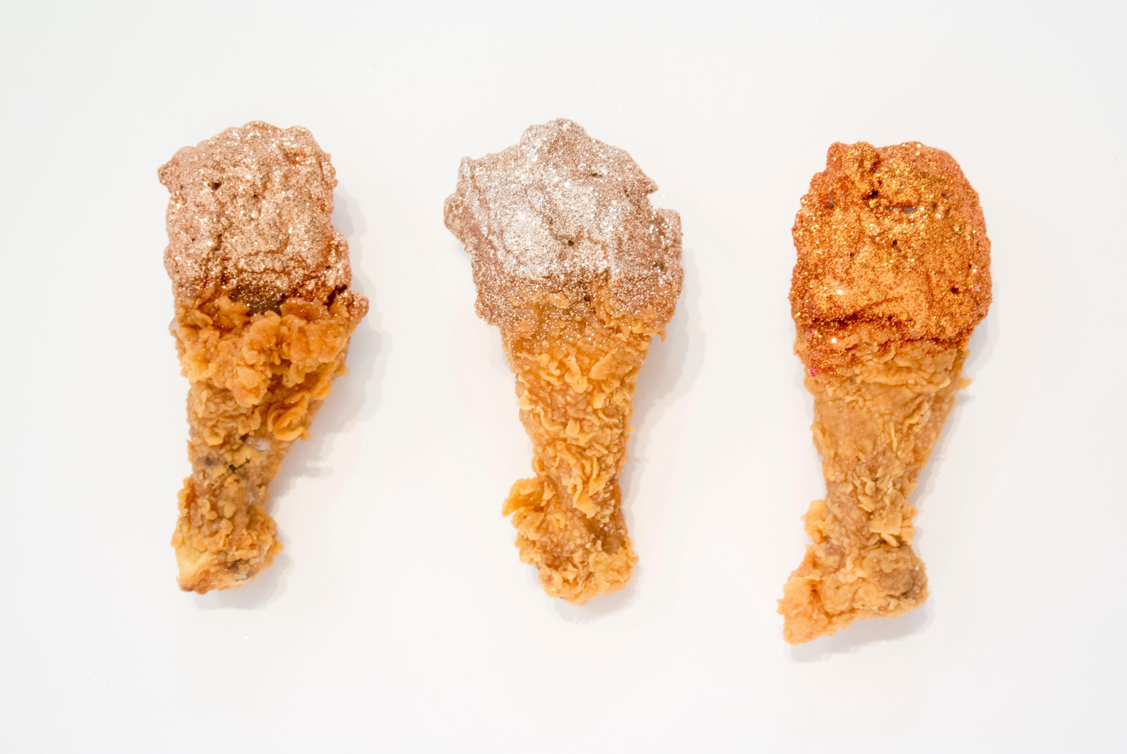 Chicken (copper, smoky quartz, fire opal)