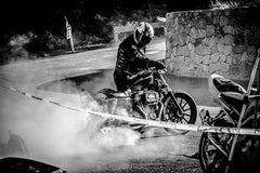 Burn Rubber in Black and White