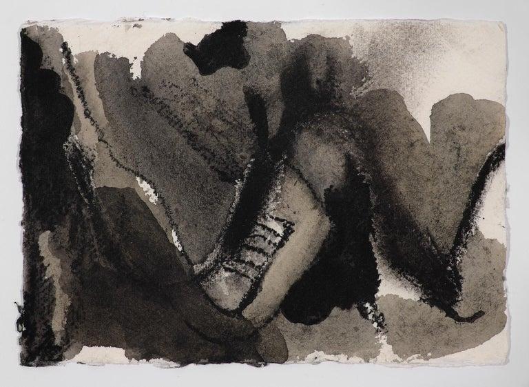 Quarantine Drawings 10, 4, 3 - Beige Abstract Drawing by Anastasia Pelias