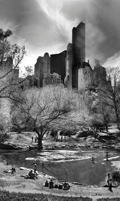 Central Park, New York City Black and White Photograph