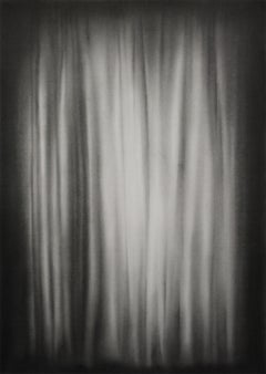 Simon Schubert, Bedroom Curtain, graphite drawing, photo realist,
