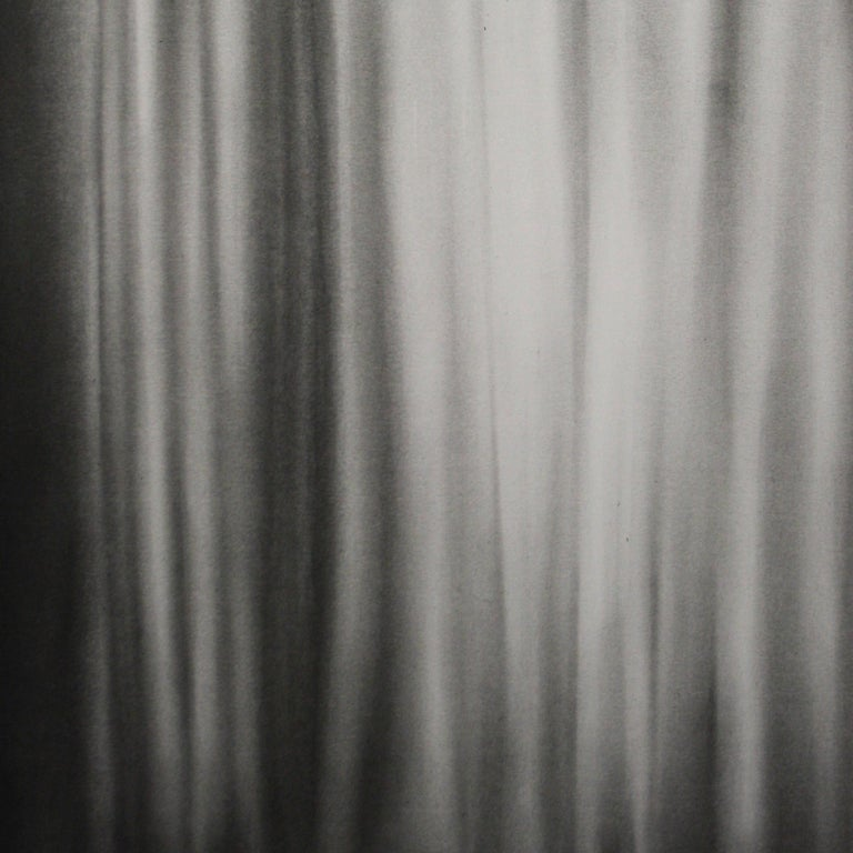 Simon Schubert, Bedroom Curtain, graphite drawing, photo realist,  2