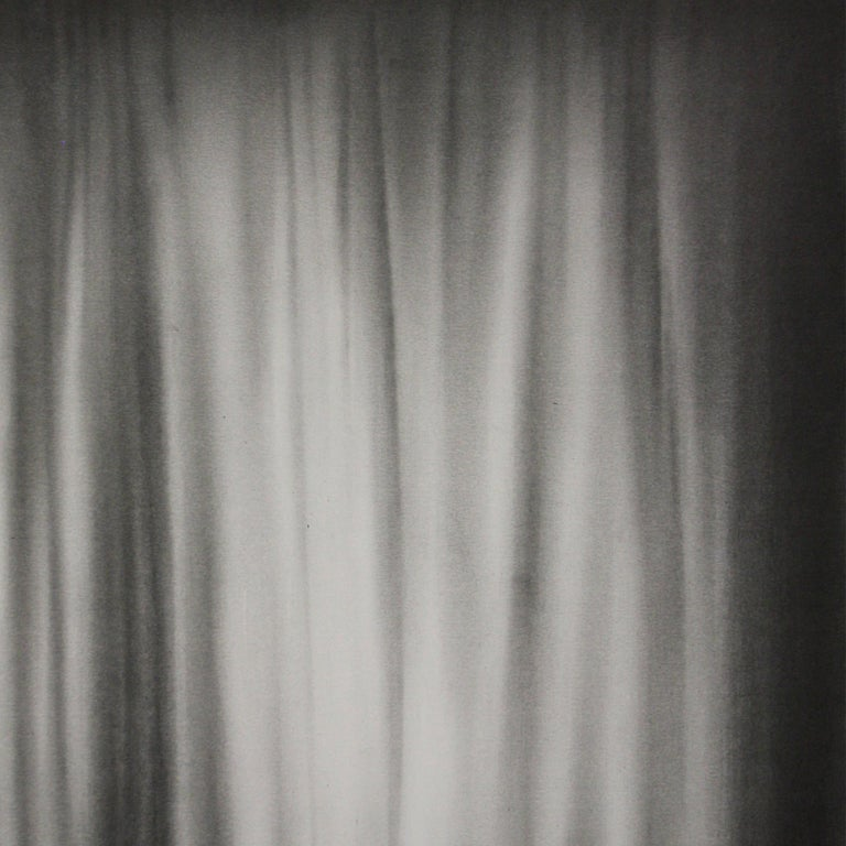 Simon Schubert, Bedroom Curtain, graphite drawing, photo realist,  3