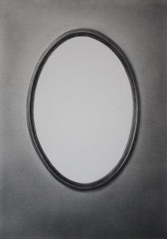 Simon Schubert, White Mirror, graphite drawing, photo realist,