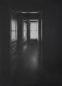 Simon Schubert, Window, Doors, graphite drawing, photo realist,