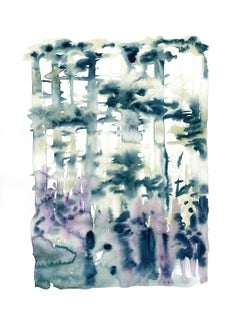 Szilard Huszank, Landscape, forest, woods, watercolor, colorful,