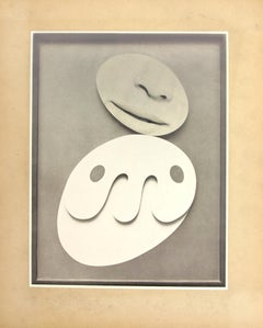 Arp Lips, Collage on found paper, 14 x 11 inches