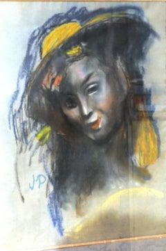 Girl with hat - Bildnis eines Mädchens mit Hut