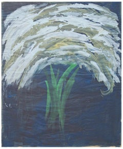 White Bouquet on Blue