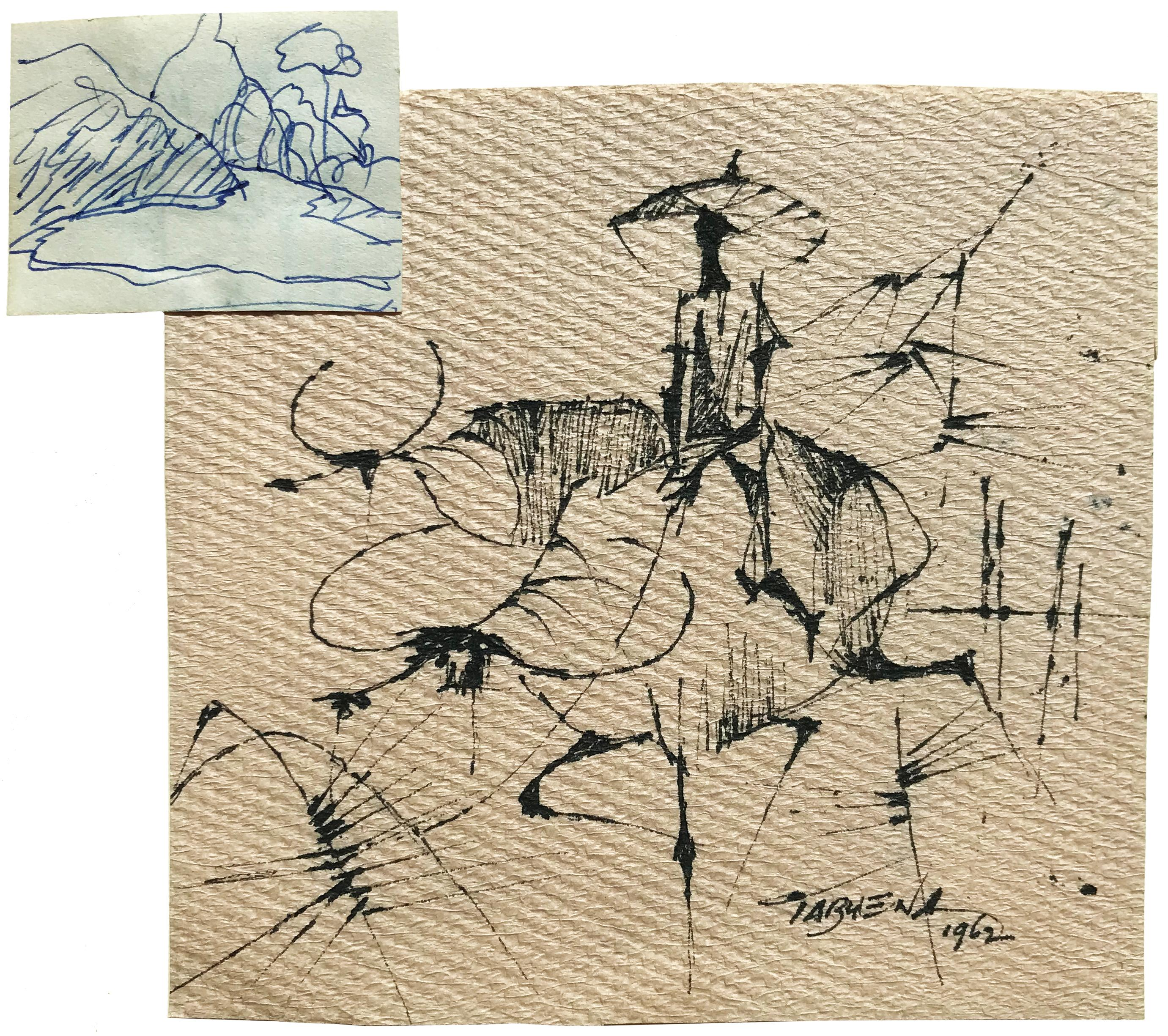 Untitled (Farmer with Water Buffalo and Landscape)