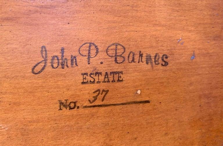 John Pierce Barnes, Afternoon Walk, Oil on Board - Brown Landscape Painting by John Pierce Barnes
