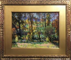 Roy Nuse, Autumn Glory, Oil on Board, Original Hand-carved Frame