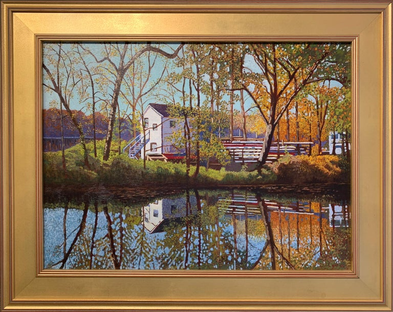 "Jan Lipes, ""Lewis Island"" , Oil on Canvas, 2002 - Painting by Jan Lipes"