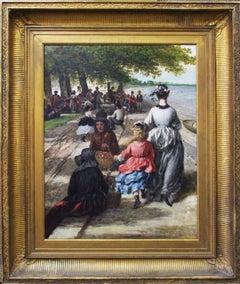 "William Winner, ""Beach Near Gloucester"", Oil on Canvas, 1877"