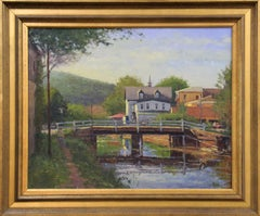 George Van Hook, Lambertville Morning, Oil on Canvas, American Impressionist