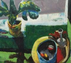 Bernard Harmon, Three O'Clock, Interior Art, Oil on Canvas, 1970