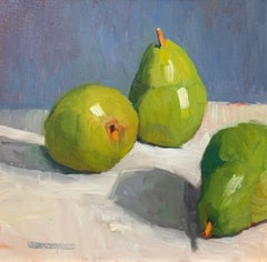 Trisha Vergis, Original Oil on Canvas, Three Pears, 2017