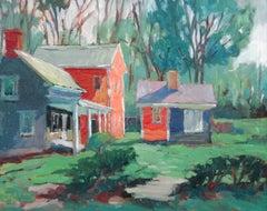 Trisha Vergis, Original Oil on Canvas, Robin's House
