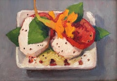 Trisha Vergis, Original Oil on Canvas, Caprese Salad