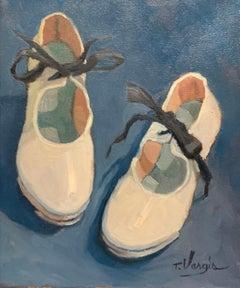 Trisha Vergis, Original Oil on Canvas, White Tap Shoes 2