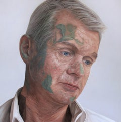 Commandant Colm McDaid, 21st Century, Modern, Figurative Oil on canvas