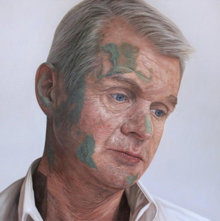 Kyle Barnes Figurative Painting - Commandant Colm McDaid, 21st Century, Modern, Figurative Oil on canvas