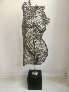 Sin - Steel, 21st Century, Modern, Figurative sculpture