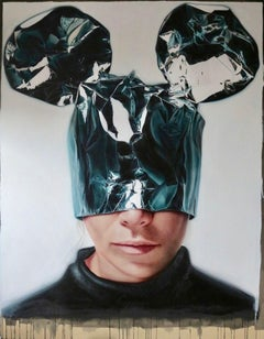 Minnie Mask I, 21st Century, Modern, Figurative Oil on canvas