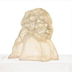 Krieg, Gedanken tränen, sculpture, modern, 21st century, Transparent cloth