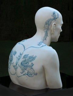 EVEN IN THE DARKEST HOURS. TATTOOED III, 21st century, modern, figurative, man