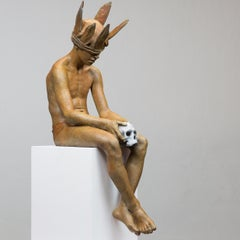 Hamlet - 21st Century, Modern, Figurative Sculpture in Bronze
