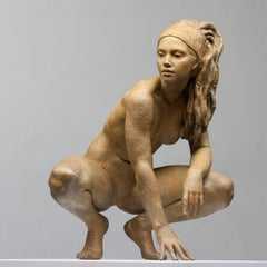 Walking In Beauty - Modern, 21st Century, Bronze, Figurative Sculpture