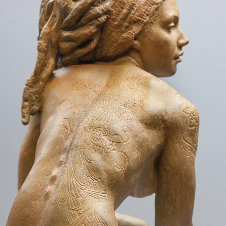 Walking In Beauty - Modern, 21st Century, Bronze, Figurative Sculpture For Sale 2