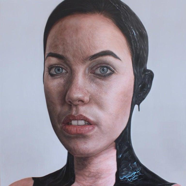 Kyle Barnes Figurative Painting - Metropolis, 21st Century, Modern, Figurative Oil on canvas