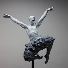 The Swan Dance - Modern, 21st Century, Bronze, Figurative Sculpture