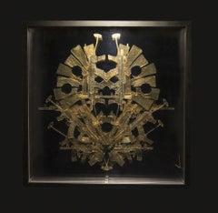 Postcolombino 27, , 21century, modern, object, gold leaf, arms, AK47