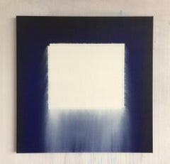 Tremblements, 21st century, modern, abstract, white, blue
