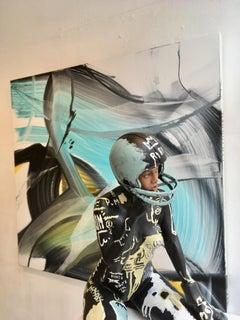 RIRI III , 21st century, modern, sculpture, Rihanna, BASQUIAT, urban art