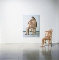Ausstieg, sculpture, modern, 21st century, Transparent cloth