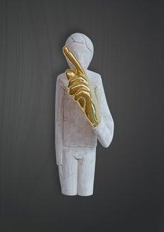 Schweigen ist gold , 21st century, modern, basswood, gold leaf, LEGO