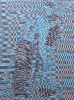 Lovers, 21st century, modern, couple, figurative