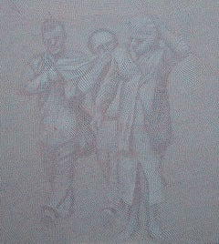 Dust, 21st century, modern, portrait, figurative, men