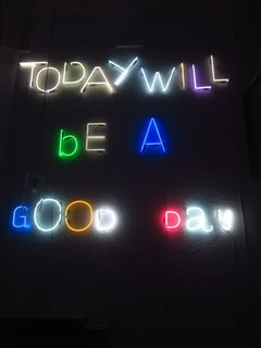 Today Will Be A Good Day, 21st century, modern, neon lights, controllers