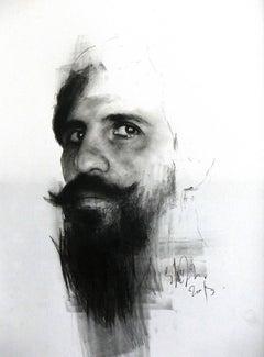 Iñigo, realism, portrait , 21st century, modern, model, graphite