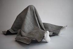A very dark place, 21st century, modern, blanket, sculpture