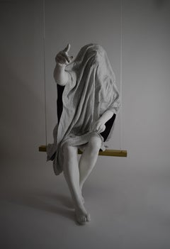The Accuser, 21st century, modern, blanket, sculpture, resin, fibreglass