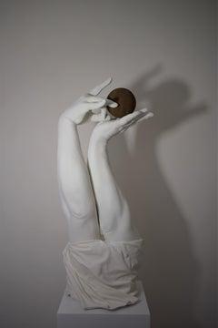 Pointless, 21st century, modern, ball, sculpture, gold
