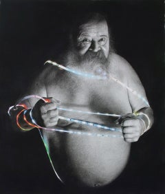 Laoconte Drawing , 21st century, modern, portrait, man, beard, lights