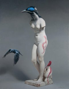 CROW, 21st century, modern, nude, elegance, women, bird