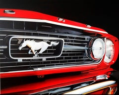 M65, 21st century, modern, hyperrealism, Mustang, Ford, convertible,
